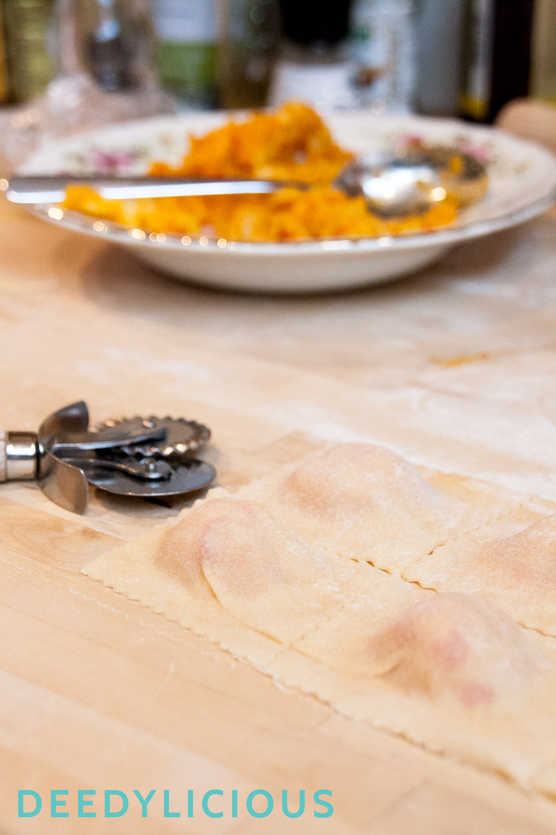 Pompoenravioli met salie-botersaus + winactie | www.deedylicious.nl