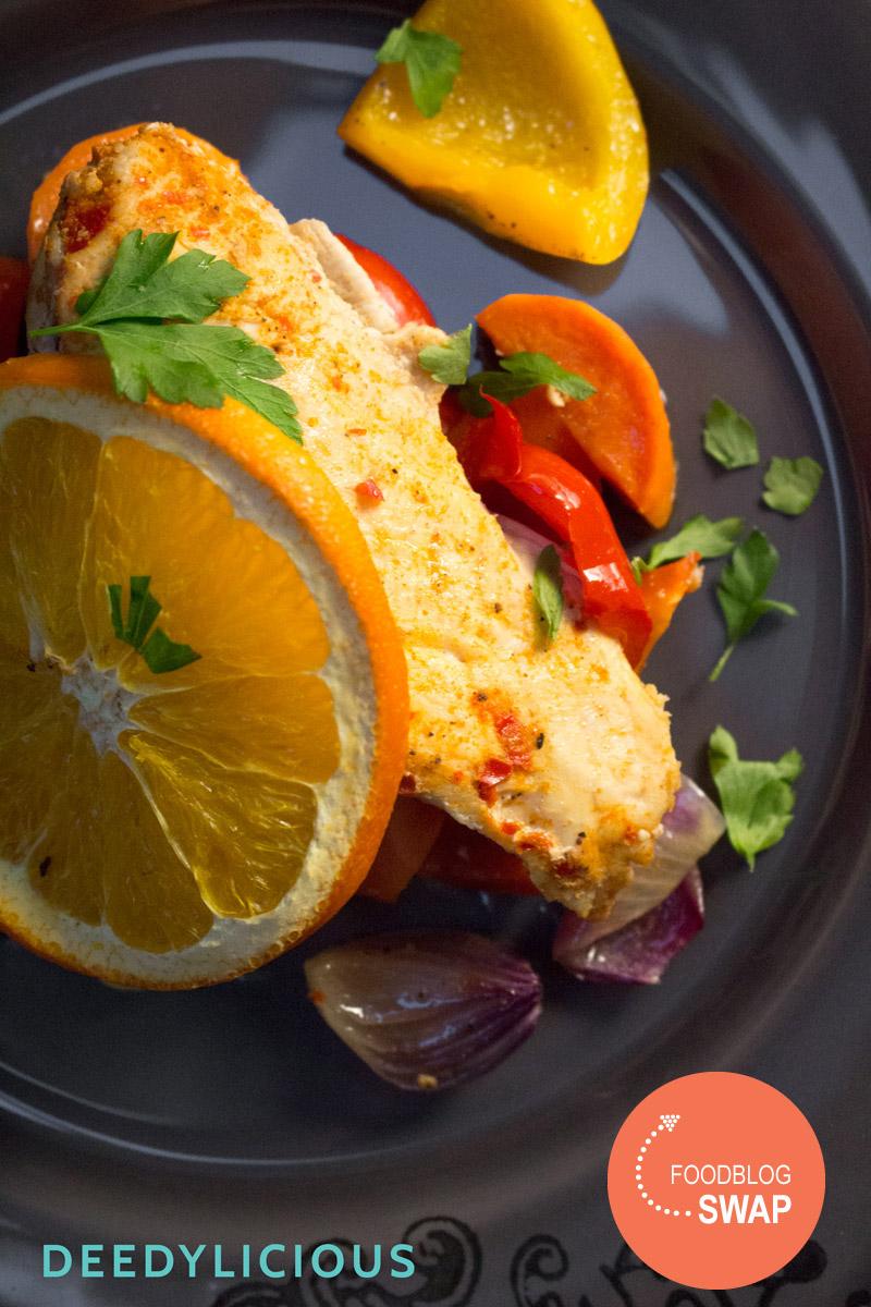 Foodblogswap: Sinaasappelkip met ovengroente | www.deedylicious.nl