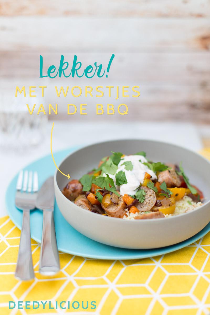 Citroen couscous met kalfsworstjes | www.deedylicious.nl
