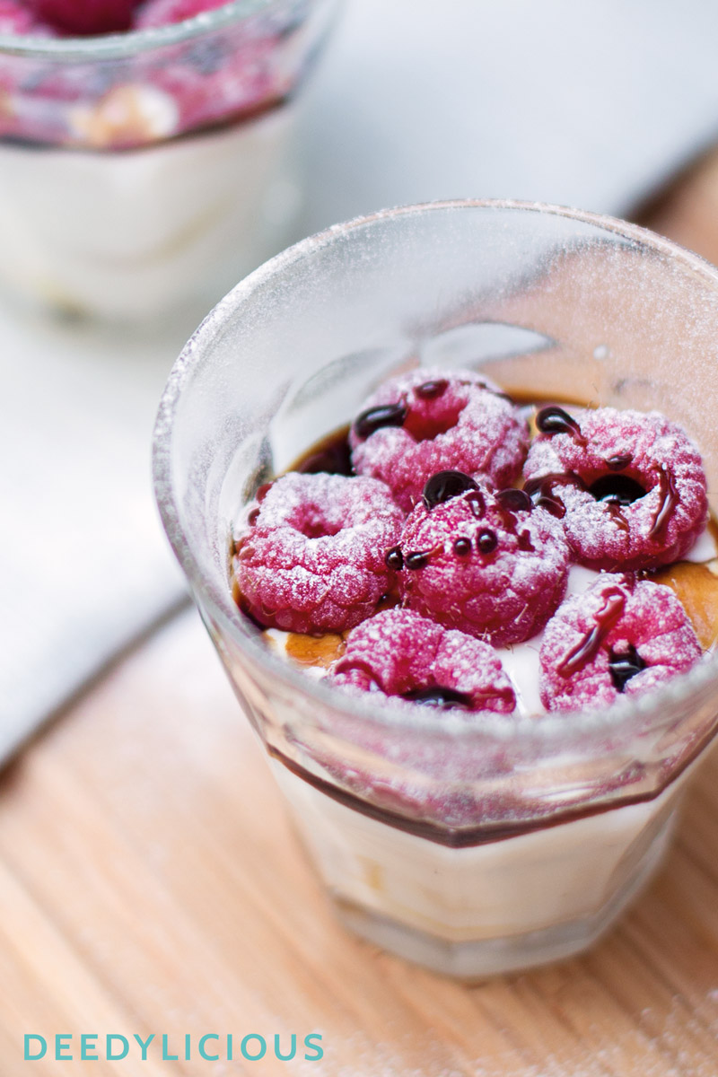 Griekse yoghurt met Balsamico en frambozen | www.deedylicious.nl