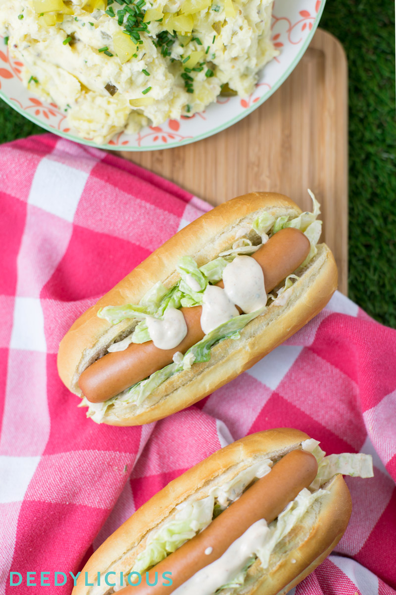 Broodje pittige Frankfurter met Kartoffelsalat | www.deedylicious.nl