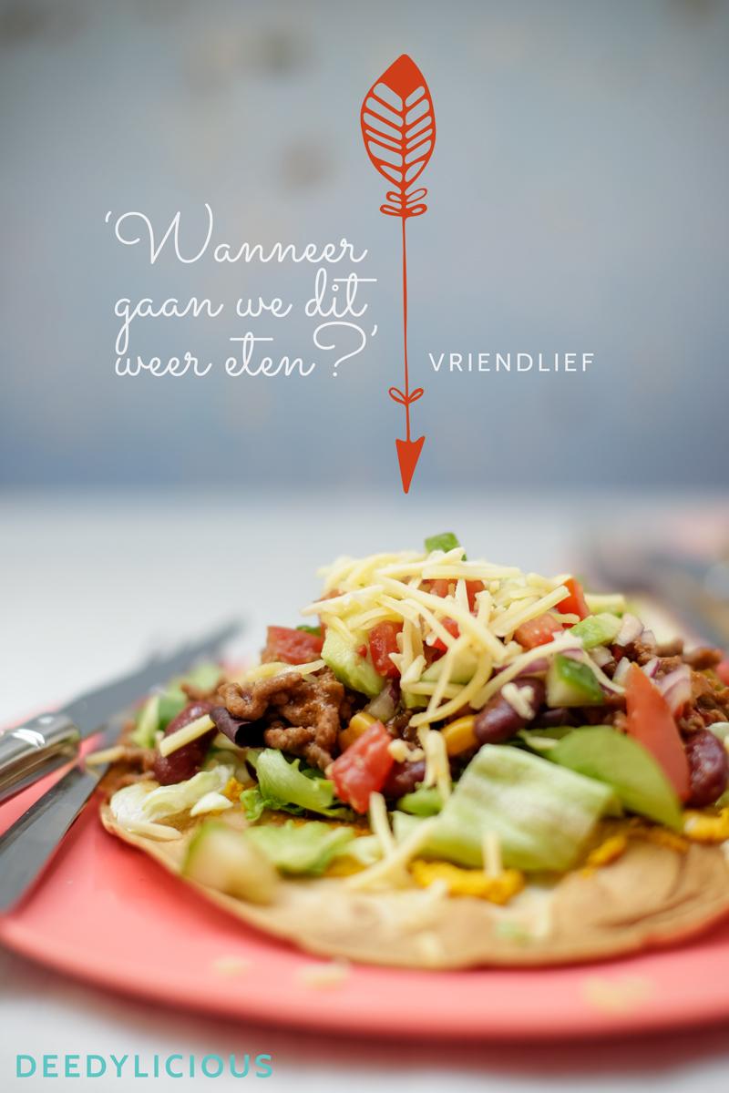 Mexicaanse tortizza's met pompoenhummus en pittige salsa   www.deedylicious.nl