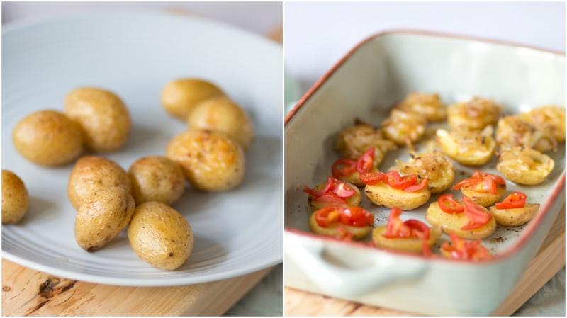 Aardappelbootjes met feestelijke topping | www.deedylicious.nl