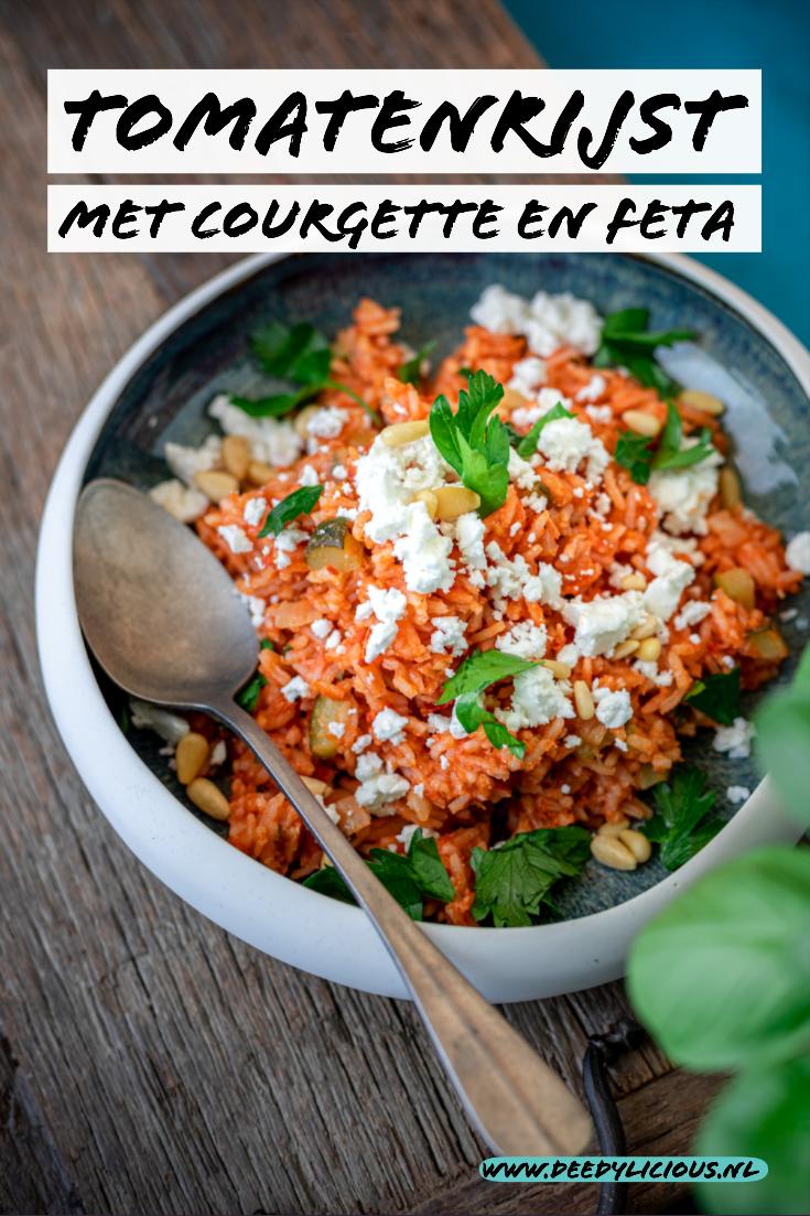 Tomatenrijst met courgetten en feta | www.deedylicious.nl
